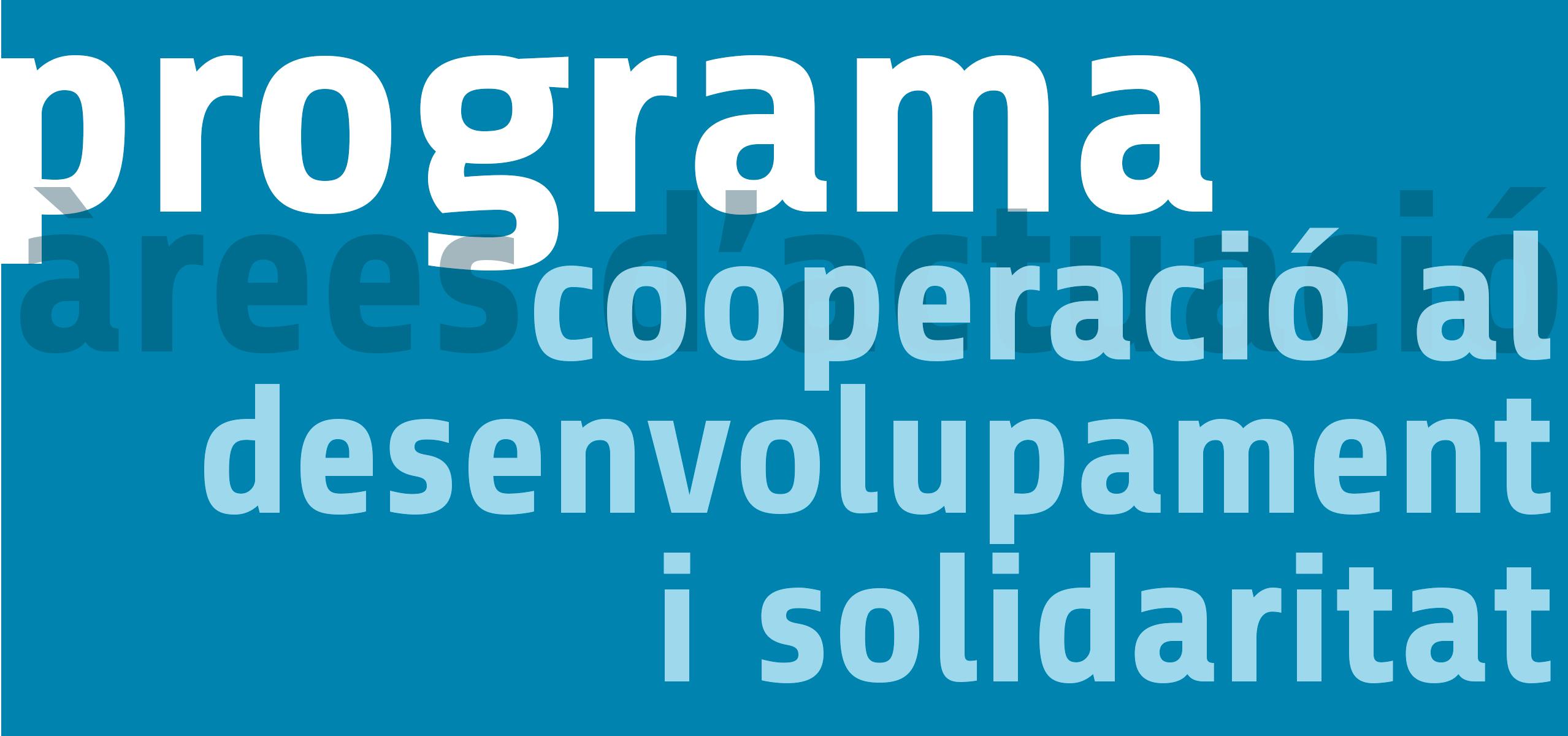 Cooperació al desenvolupament i solidaritat